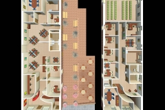 3D ARIAL OFFICE PLAN VIEW