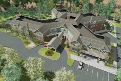 ASSISTED LIVING RENDERING AERIAL VIEW