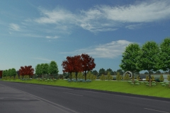 LANDSCAPED BERM REQ'D FOR TOWN PLANNING
