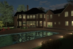 SYOSSET RESIDENCE IN THE EVENING-BY THE POOL